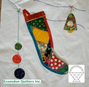 Christmas block by Barb Duffy