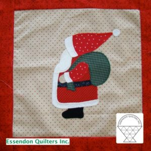 Christmas block by iris and Margaret