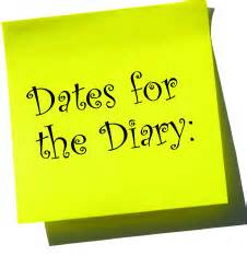 Diary Dates 2019
