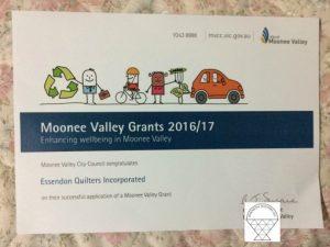 Moonee Valley Grant 2016/2017