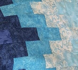 Jacquie A #6: Blue fat quarters