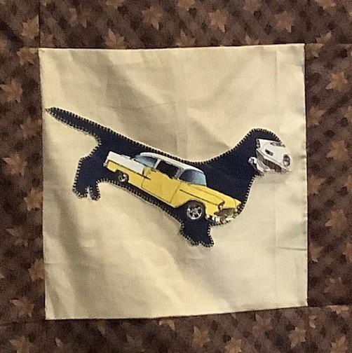 Lorraine C #37: Hot rod quilt