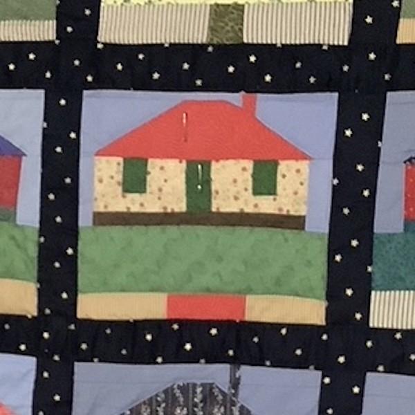 Lorraine C #41: House quilt